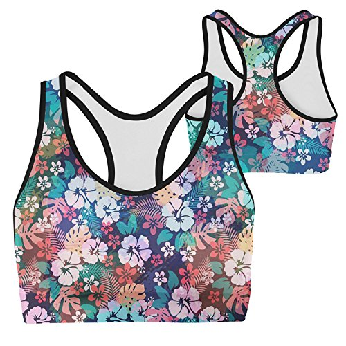 Price comparison product image Charming Hawaii Flower Girls Seamless Sports Performance Bra With Removable Pads