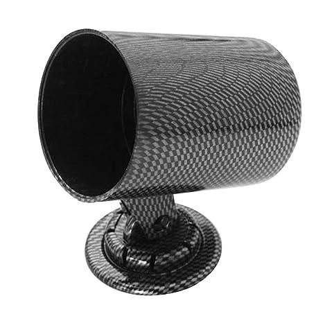 60mm 2.36/'/' Carbon Fiber Single Hole Dash Mount Bracket Swivel Cup Holder Pod