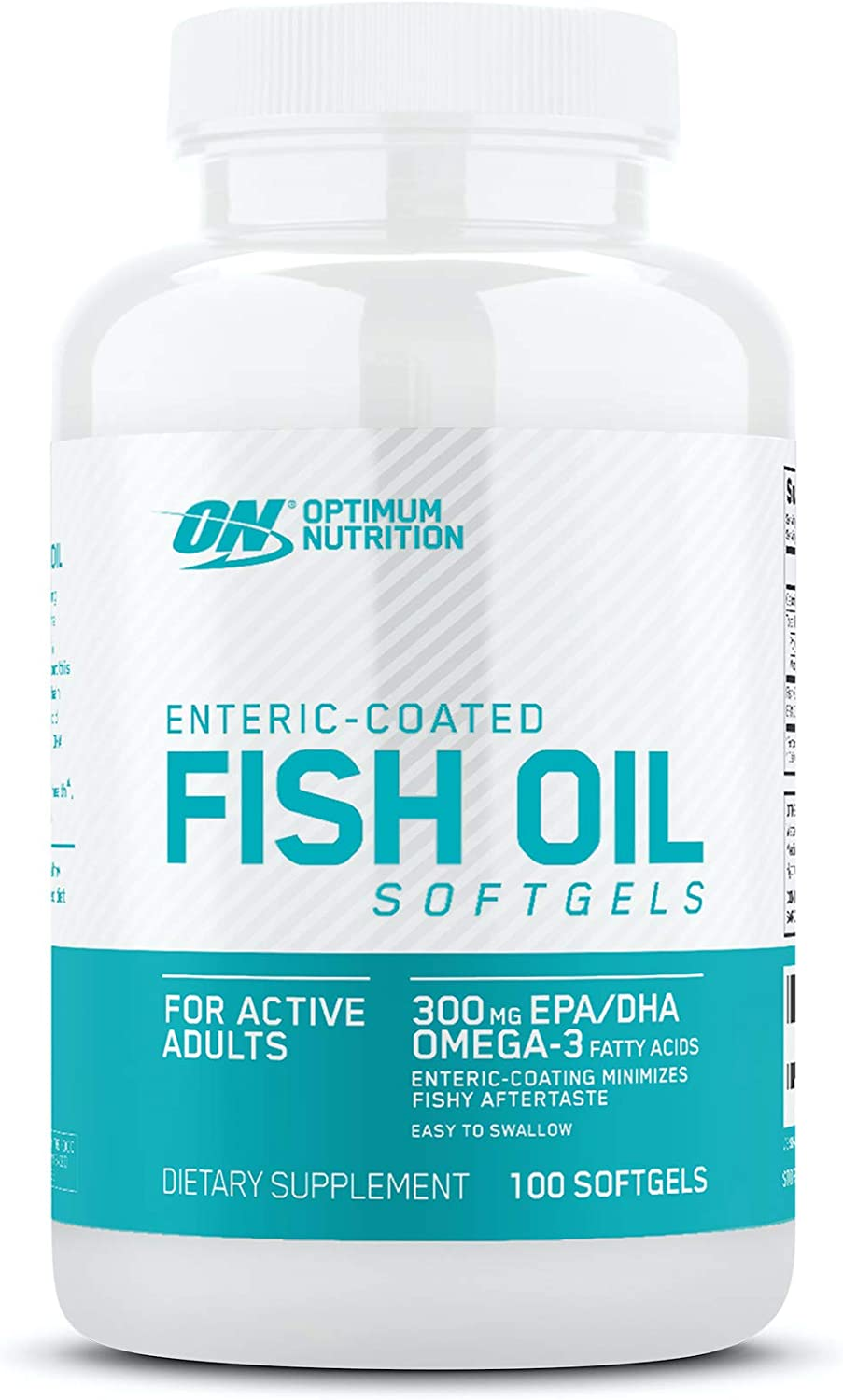Optimum Nutrition Omega 3 Fish Oil, 300MG, Brain Support Supplement, 100 Softgels (Packaging May Vary): Health & Personal Care