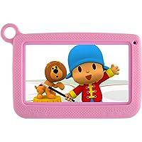BENEVE Tablet Android Infantil con Funda Uso rudo para niños, Pantalla HD de 7 Pulgadas Incluyendo Almacenamiento Interno 8GB, WiFi, Bluetooth e iwawa preinstalado y Control para Padres. … (Rosado)