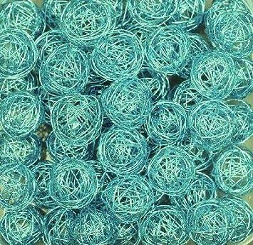 Amazonde Drahtbälle Drahtkugeln Ca 30 Mm 10 Stück Farbe Hellblau