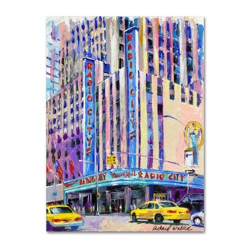 Radio City Music Hall by Richard Wallich, 35x47-Inch Canvas Wall Art