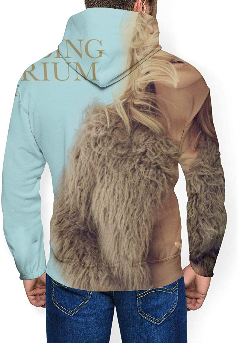 Ellie Goulding Delirium Men Long Sleeve Drawstring Hooded Fashion Hoody Plus Velvet Black
