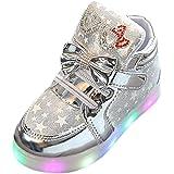 QinMM Zapatos LED Niños Niñas Deportivas de Luces Estrella Corriendo Zapatillas