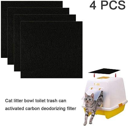 Charcoal Cats Litter Box Replacment Filter Hooded Cats Litter Pans Odor Filters