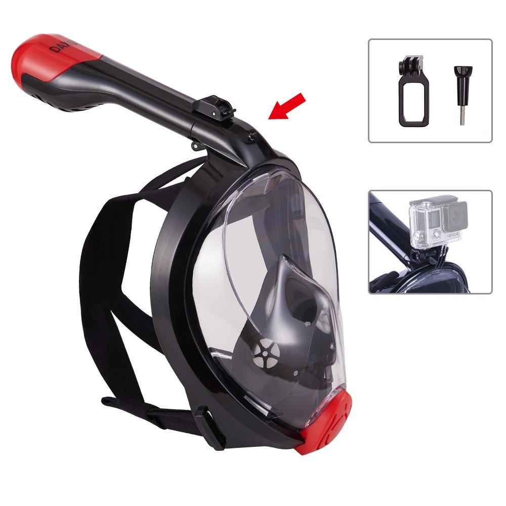 DAXGD Máscaras de buceo plegable Máscara facial de cara completa anti fugas