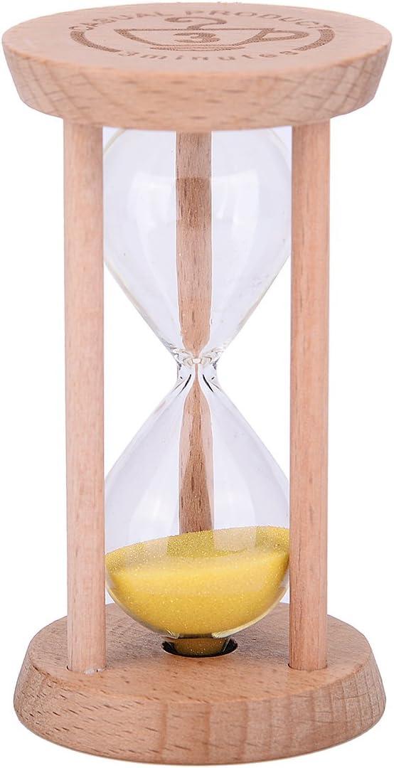 Pour la maison Couleur bois 1min Wood Pink Weiye Mini Sablier/en bois le restaurant 1/minute//3/minutes
