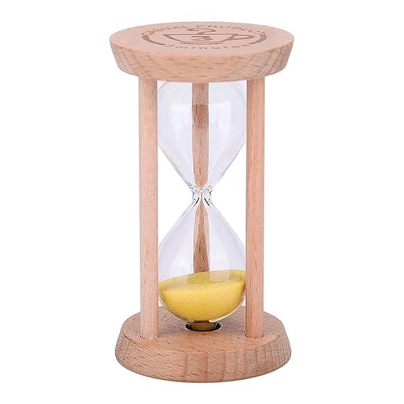 Mini reloj de arena - madera Sandglass reloj de arena temporizador, reloj de arena de color de madera herramienta para hogar y restaurante, ...