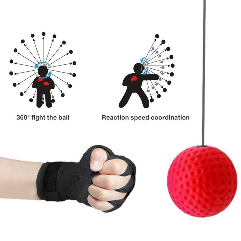 Pelota Entrenamiento de Reflejos Boxeo Pelota Boxeo con Diadema para Fight MMA Training Reacciones de Velocidad Adulto//Ni/ños Mejorar Punch Focus Deporte Ejercicio Practice Fitness