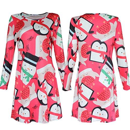 Hunputa Penguin Printed Christmas Dresses product image