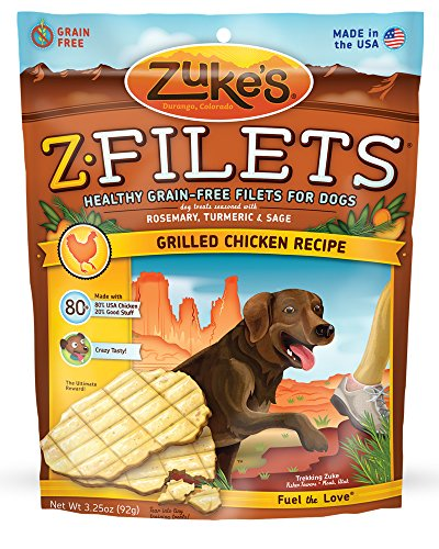 Zuke s Z-Filets Dog Treats, Savory Chicken Recipe,…