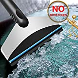 AIKESI Snow Scraper for Car Window, Windshield Scraper Ice Scraper Snow Removal Tools with Wiper, Stainless Steel Snow Remover for Car SUV Truck