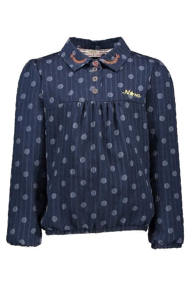 NoNo Mädchen Shirt Bluse Langarm Navy Blazer 5302