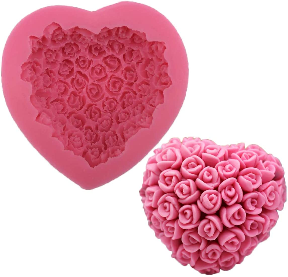 Heart Box with Roses Chocolate Mould Valentine Mould