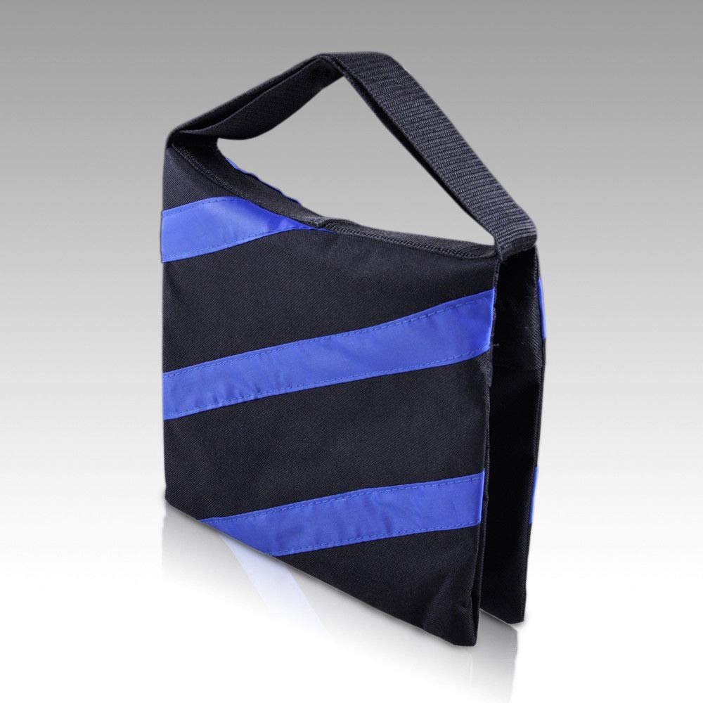 FidgetKute 4X Black/Blue Stripe Photography Studio Video Heavy Duty Sandbag Balance Weight