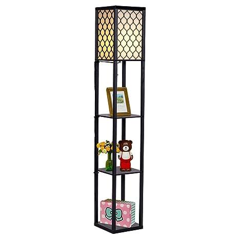 Beau Costzon Shelf Floor Lamp, 3 Storage Shelves Lamp, 63 Inch Height, Switch On