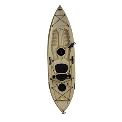 Lifetime Muskie Angler Sit-On-Top Kayak with Paddle, Tan, 120