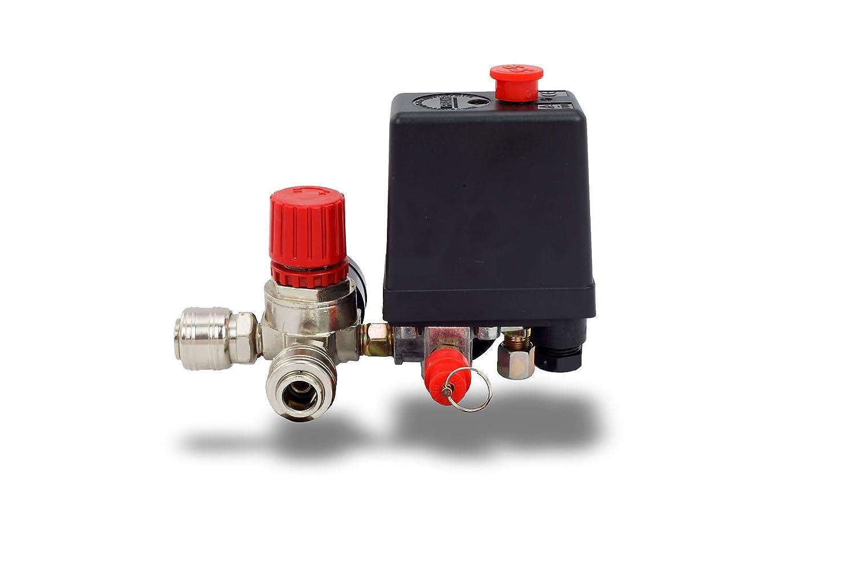 Druckregler mit Druckschalter f/ür Kompressor Kompressorschalte