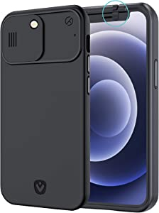 Spy-Fy iPhone 12 Pro Max Case with Camera Covers Front and Rear | Protect Your iPhone and Privacy | 6-Foot Drop Proof | 6.7 Inch | Camera Protection by Valenta
