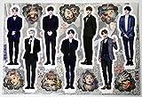 BTS BANGTAN BOYS - STANDING PAPER MINIATURE STANDUPS (10.2 x 7.5 inch ) + 5 Photos(4 x 3 inch)