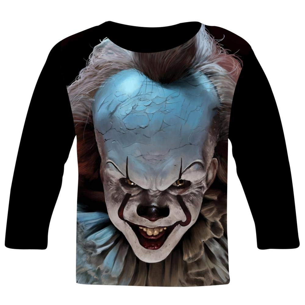 Penny-Wise Horror Smile Kids T-Shirts Long Sleeve Tees Fashion Tops for Boys//Girls