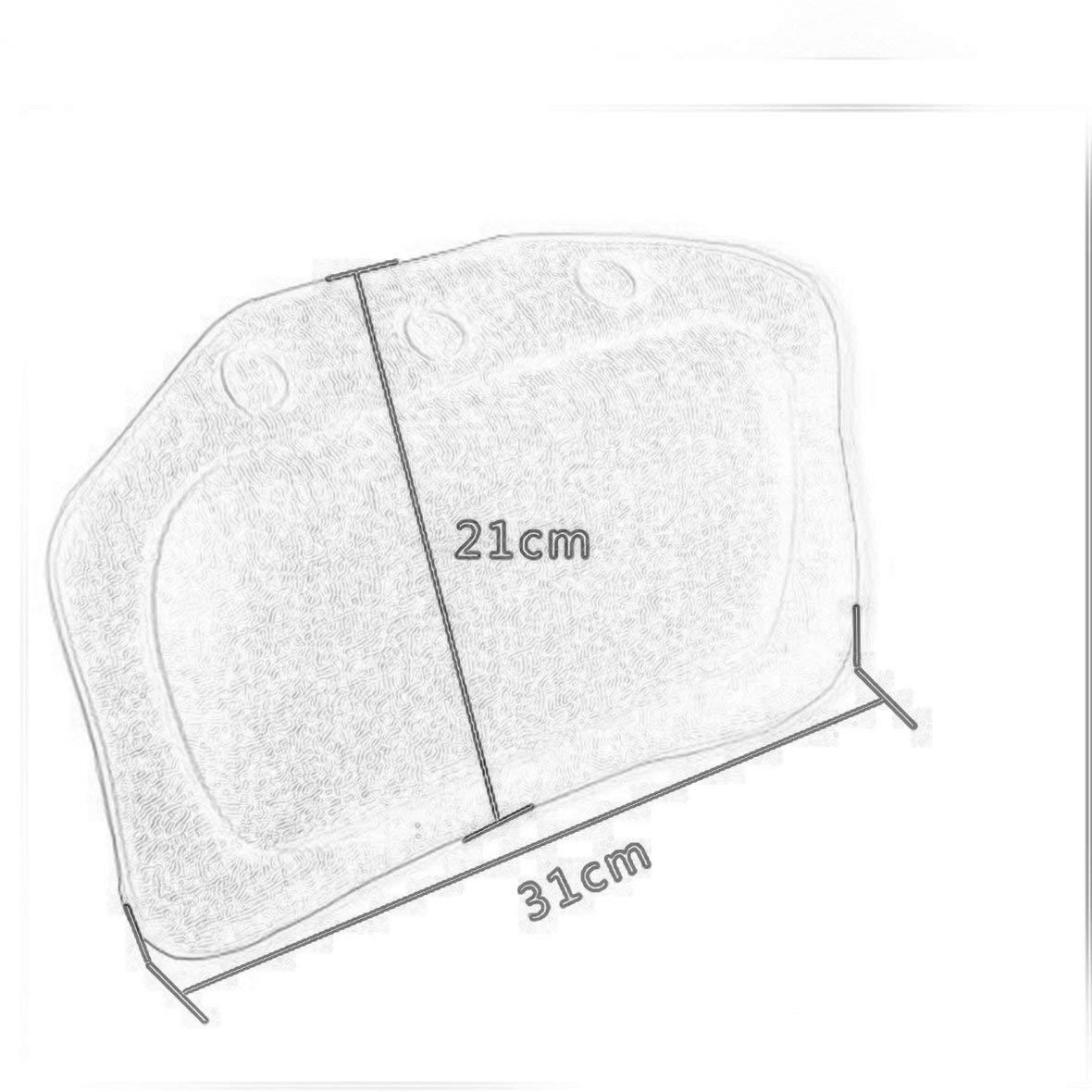 Heaviesk Reposacabezas del ba/ño de la Espuma de la Esponja del ba/ño de la Almohada Suave de la Almohada del ba/ño de PVC