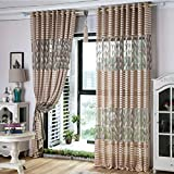 Malloom Striped Feather Window Screens Door Balcony Curtain Patio Panel Sheer...