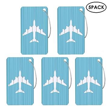 Aolvo Aluminium Gepäckanhänger, 5 Pack Hartschale Metall Koffer Bag ...
