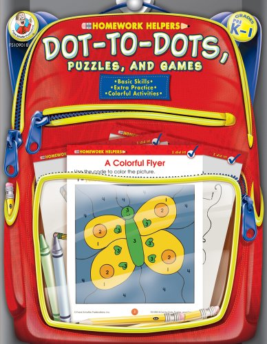 Dot-to-Dot, Puzzles, and Games Homework Helper, Grades PreK to 1 ()