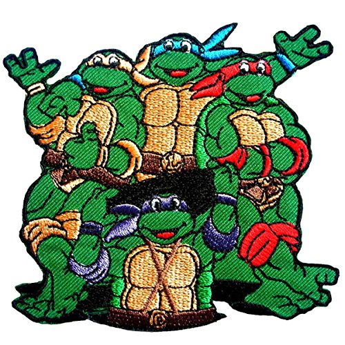 Teenage Mutant Ninja Turtles Embroidered Iron on Patch