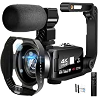 4K Camcorder Video Camera Ultra HD Wi-Fi Vlogging Camera 48.0MP 16X Digital Zoom Camcorders with IR Night Vision…