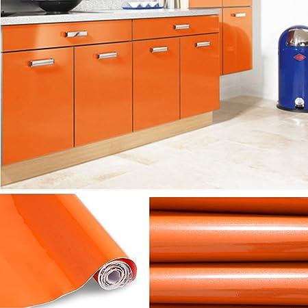 5 m Küchenfolie Folie Küche orange matt 61,5 cm 4,99 € //m