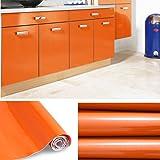 klebefolie dekorfolie d509 orange gl nzend 60cm breite. Black Bedroom Furniture Sets. Home Design Ideas