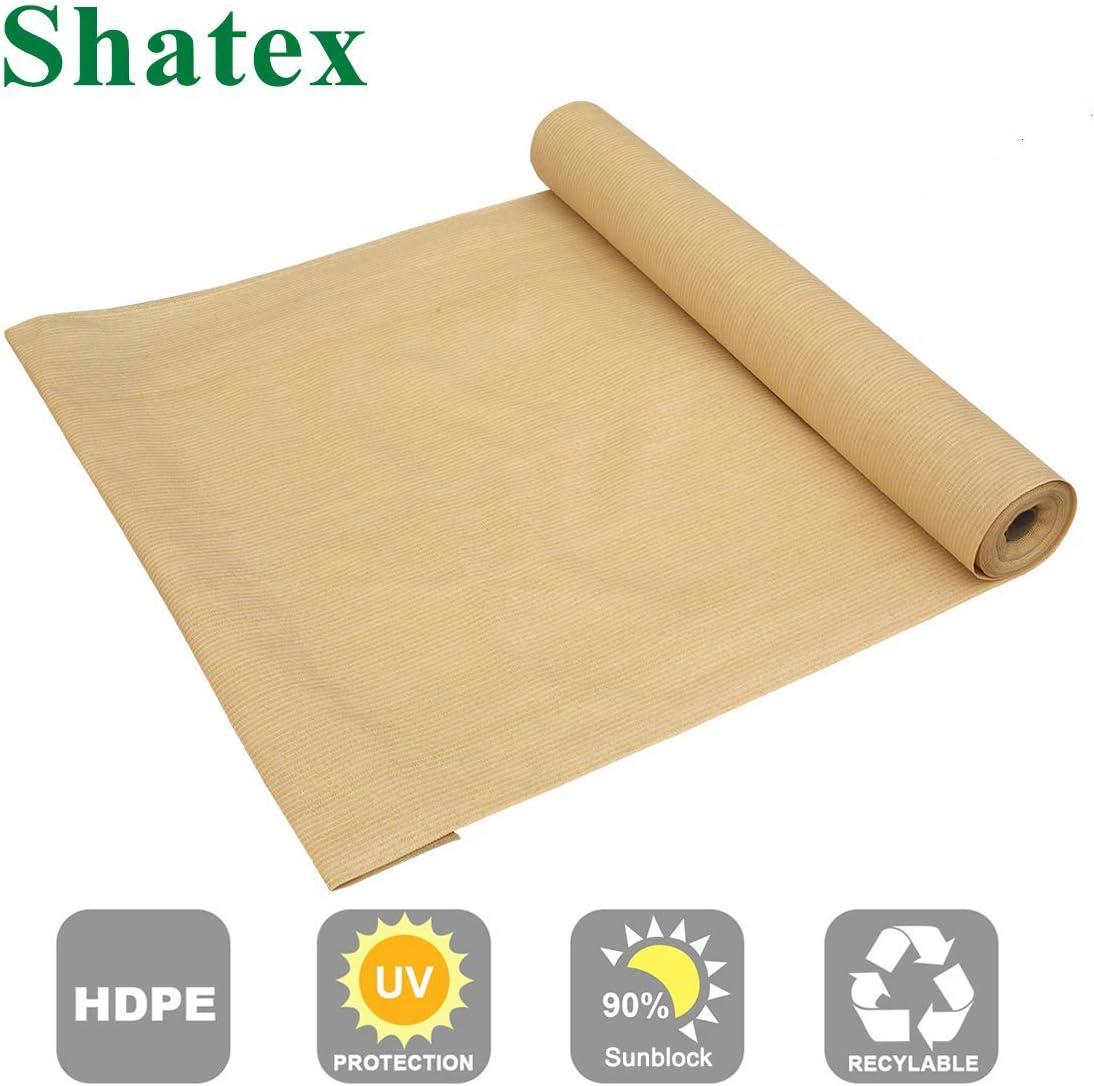 Coolaroo Fabric Roll Sun Shade 90  UV Block 6 x 15 Ft Cloth Porche Awning Wheat