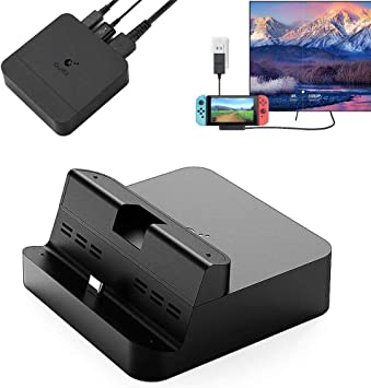 GULIkit Dock Set para Nintendo Switch, Base de Carga Portatil con Puerto de Carga PD, Adaptador HDMI y Puerto USB 3.0, Compatible con Modo Samsung Dex/PC de Huawei/Smartisan TNT/MacBook Pro: Amazon.es: Electrónica