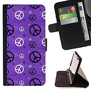 For LG G4 H815 H810 F500L Hippie Sign Symbol Peace Wallpaper Art Style PU Leather Case Wallet Flip Stand Flap Closure Cover
