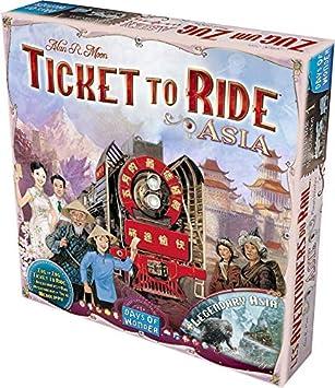 Days of Wonder- Juego De Mesa (Asmodee DOW720113): Ticket To Ride Asia Map Collection: Amazon.es: Juguetes y juegos