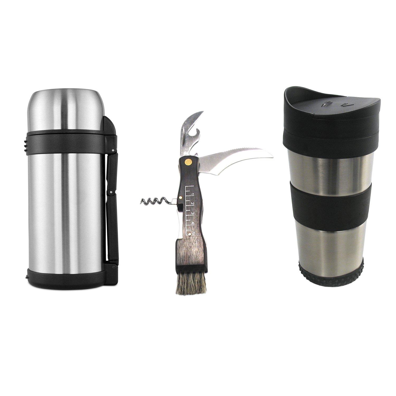 CRC Feld Set  Thermosflasche, Reisebecher und und Reisebecher Pilzsammlermesser. 3b2b25