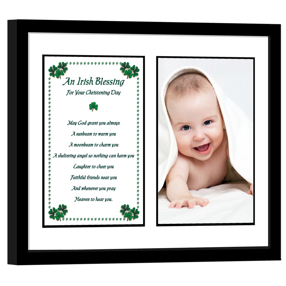 Christening Gifts Baby Keepsake Frame Boy or Girl Add Photo by Poetry Gifts
