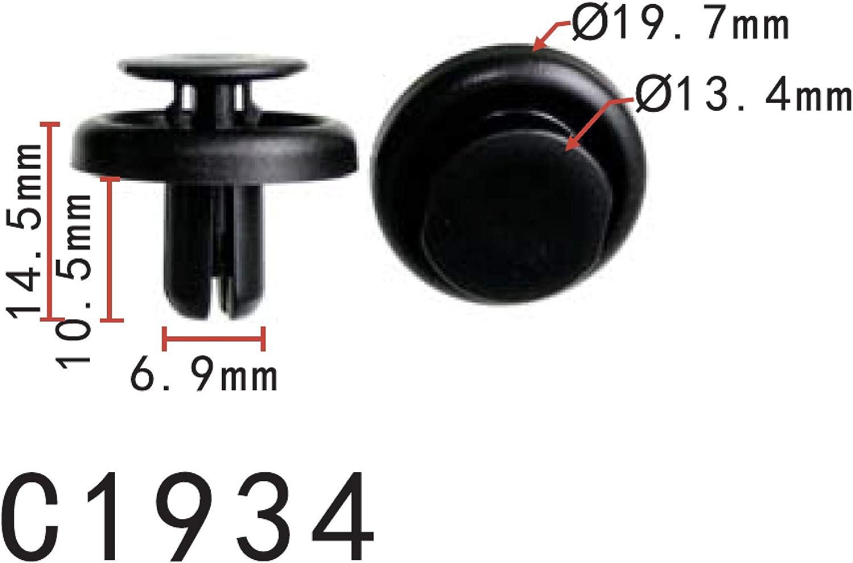 10 Bumper Cover Retainer Clip For Toyota Lexus 90467-05138
