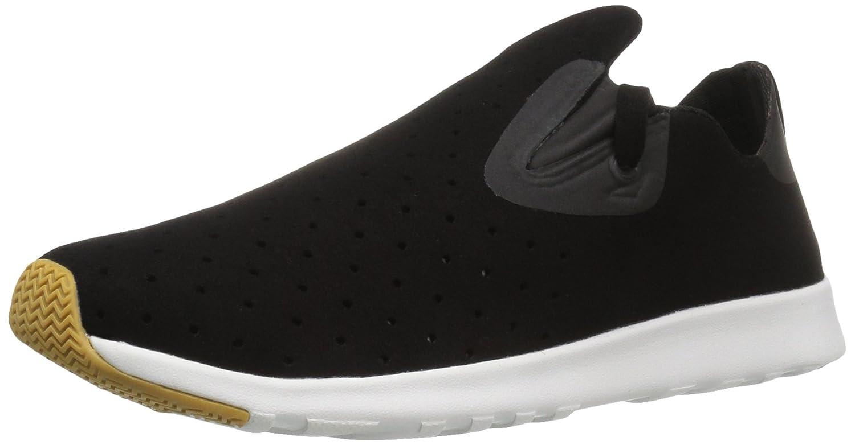 Native Unisex Apollo Moc Fashion Sneaker. Jiffy Black/Shell White/Natural Rubber