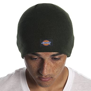860a1a7c Dickies Men's 9 Inch Knit Beanie Hat, Hunter Green, One Size: Amazon ...