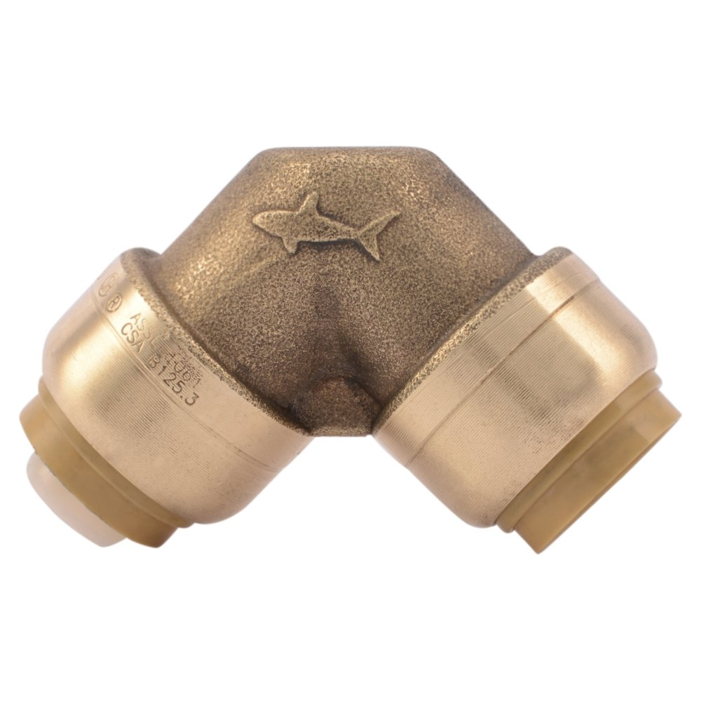 SharkBite 3/4-Inch 90-Degree Elbow, Push-to-Connect, PEX, Copper, CPVC