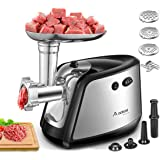 Electric Meat Grinder, Aobosi 3-IN-1 Meat Mincer & Sausage Stuffer,【1200W Max】Sausage & Kubbe Kits Included, 3 Grinding…