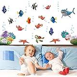 Anself Unterwasser-Welt verschiedene Fisch-Ozean-DIY Wandaufkleber Wallpaper Art Decor Wandtattoo Zimmer Wandbild