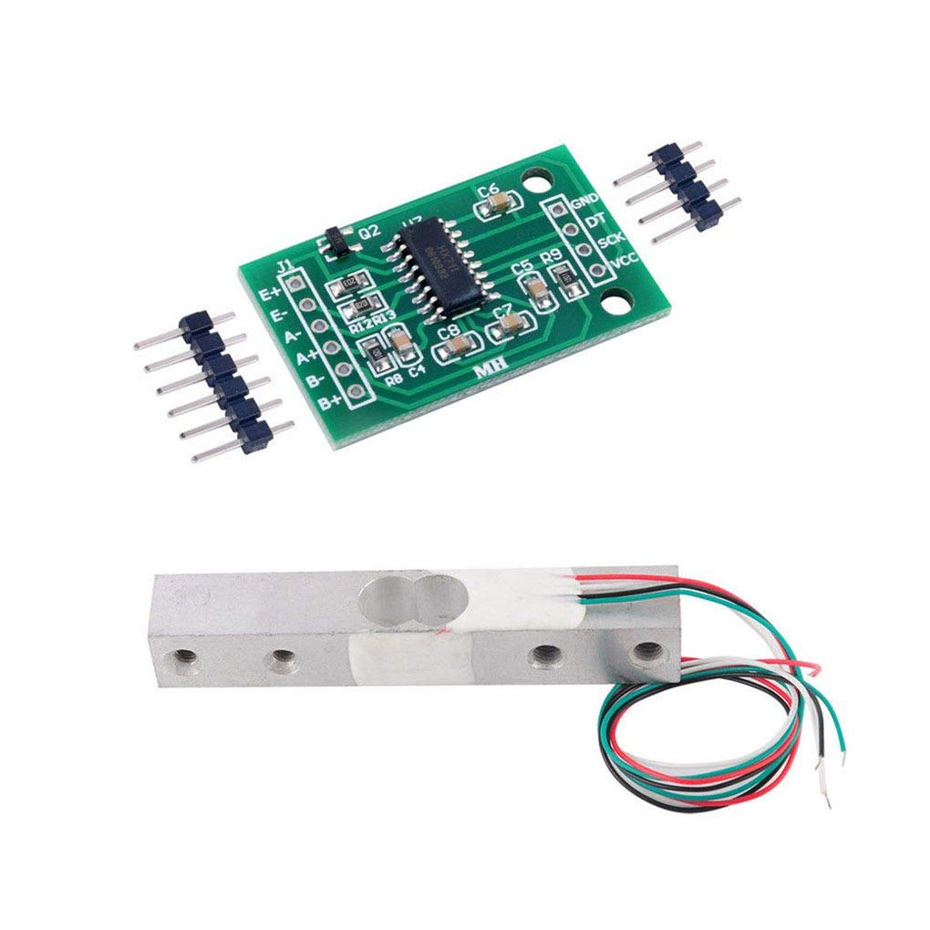 Demino 1//5//10//20kg Small Range Weighing Pressure Sensor and HX711AD Module Load Cell and HX711 Module