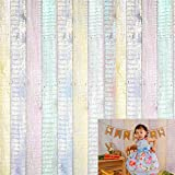 Kate 8x8ft Wood Fence Backgrounds for Photography Easter Backdrops Colorful Texture Backdrop Photo Booth