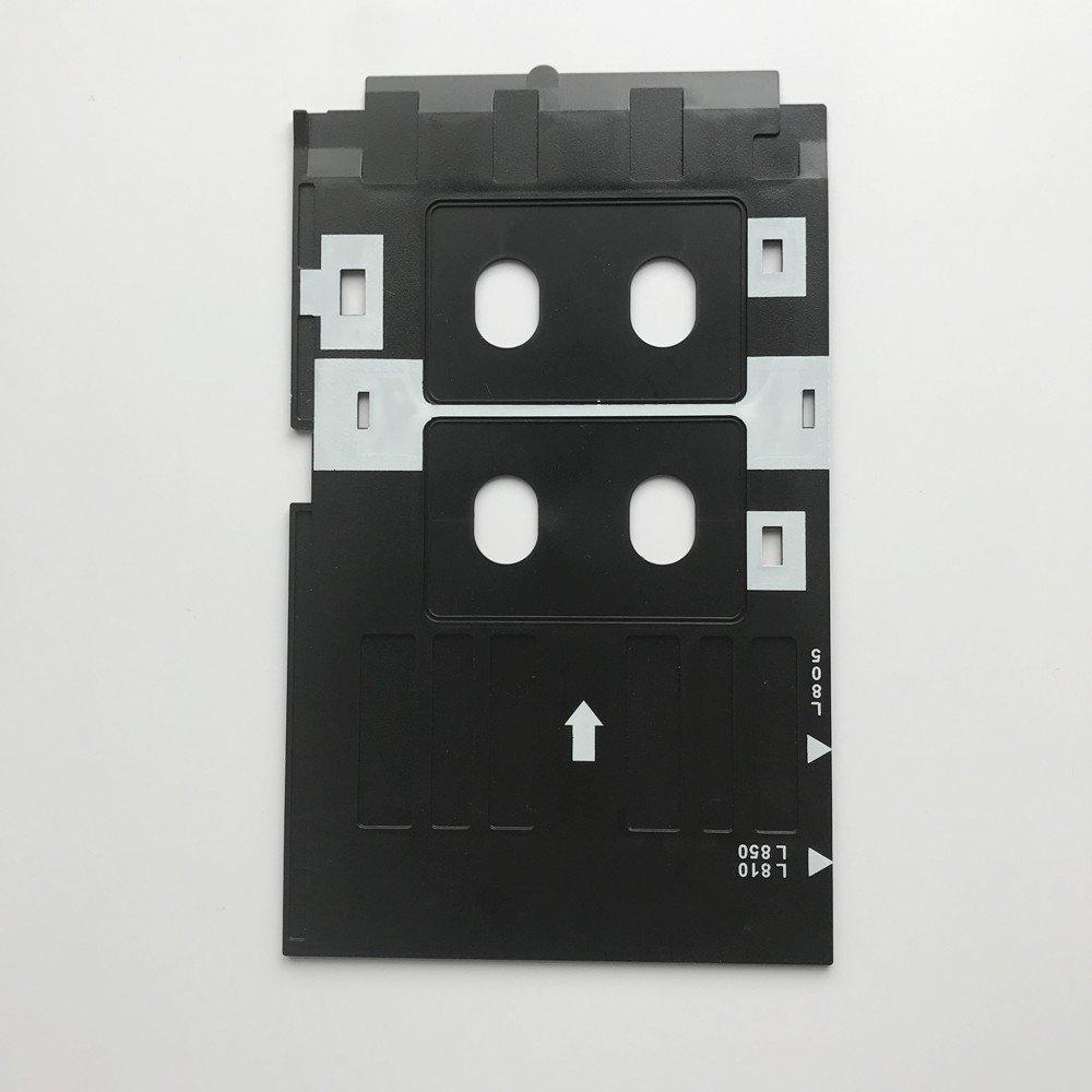 100 Pcs Glossy Pvc Card And 1 Pcs Card Tray For Epson R260 R265 R270 R280 R290 R380 R390 Rx680 T50 T60 A50 P50 L800 L801 R330 Office Electronics Printer Parts
