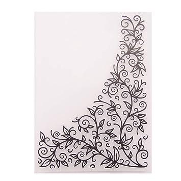 Xurgm Pr/ägeschablone Pr/ägefolder Embossing Folder Pr/ägeschablone Pr/ägefolder Schablone Transparent f/ür DIY Album Papier Karten Umschlag Scrapbooking