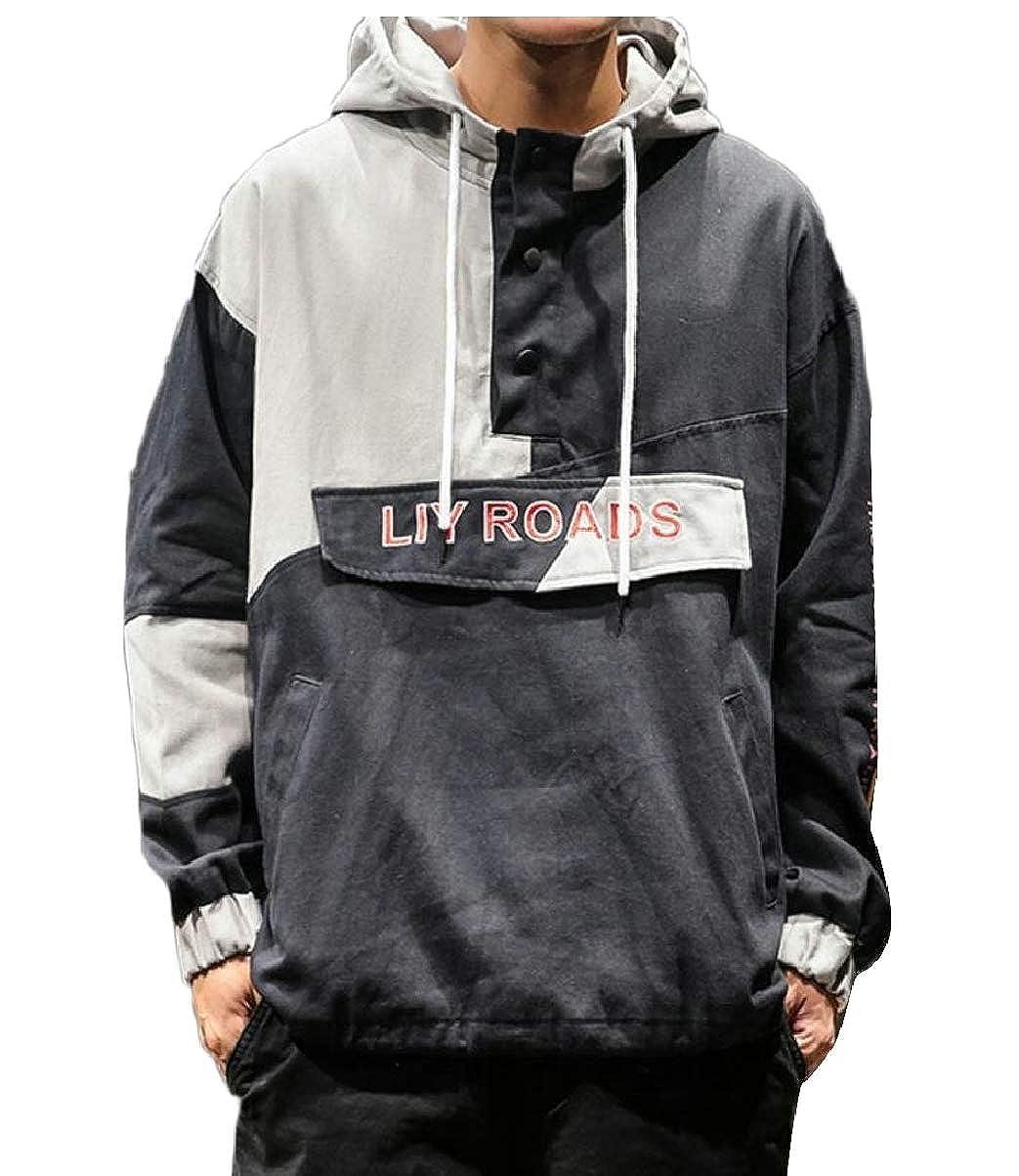 CBTLVSN Mens Hipster Hip Hop Letter Print Autumn Pullover Loose Hoodie Sweatshirt